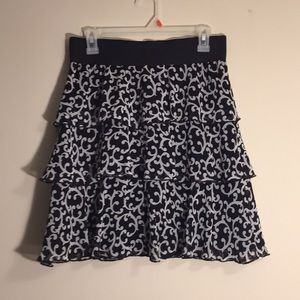 Black/White Women's Skirt